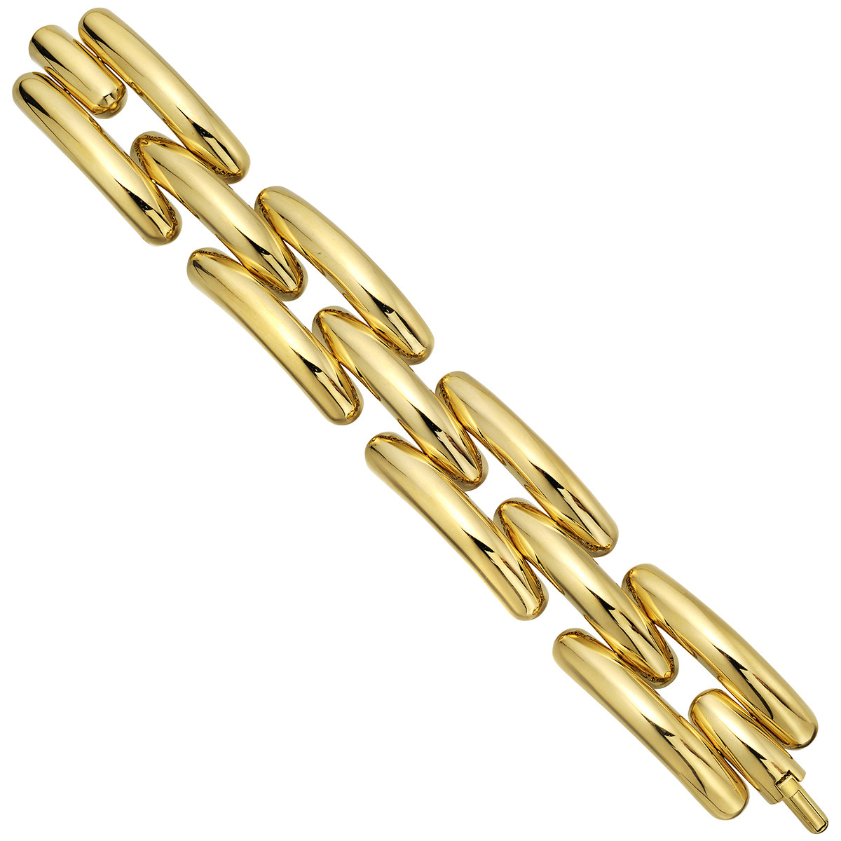 18k Yellow Gold 3-Row Bracelet