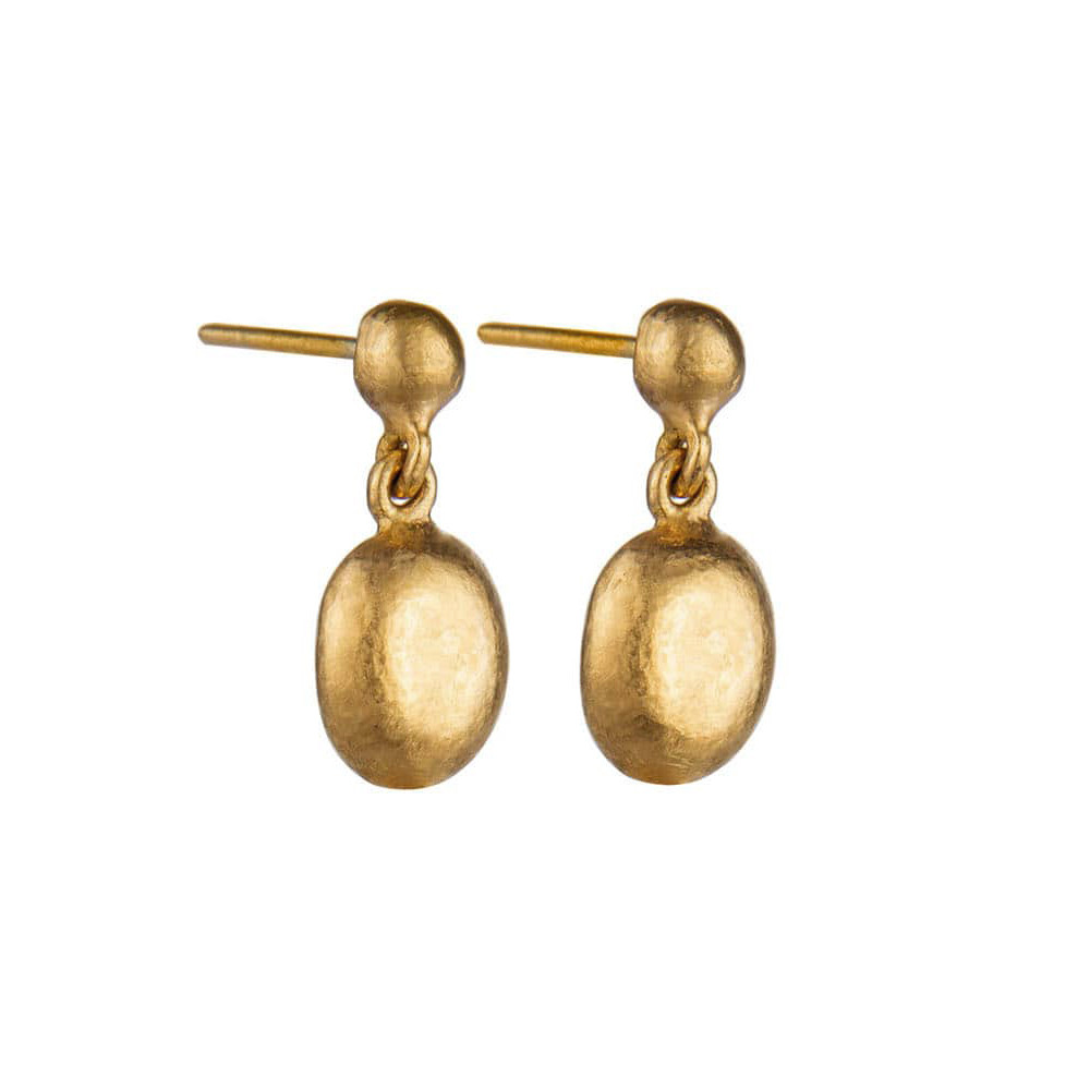 "Mini 24k Yellow Gold ""Roxanne"" Drop Earrings"