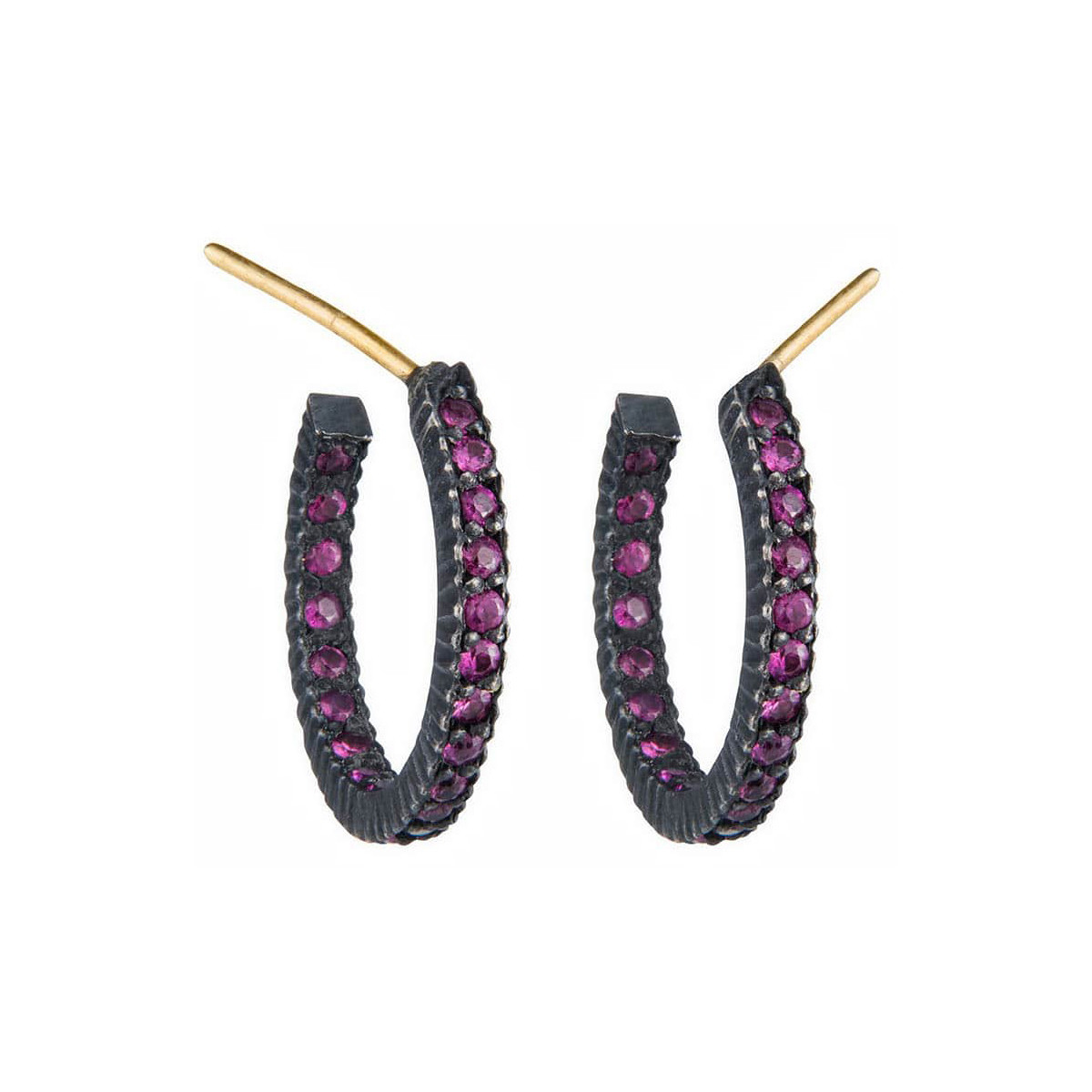 "Small Ruby ""Lilah"" Hoop Earrings"