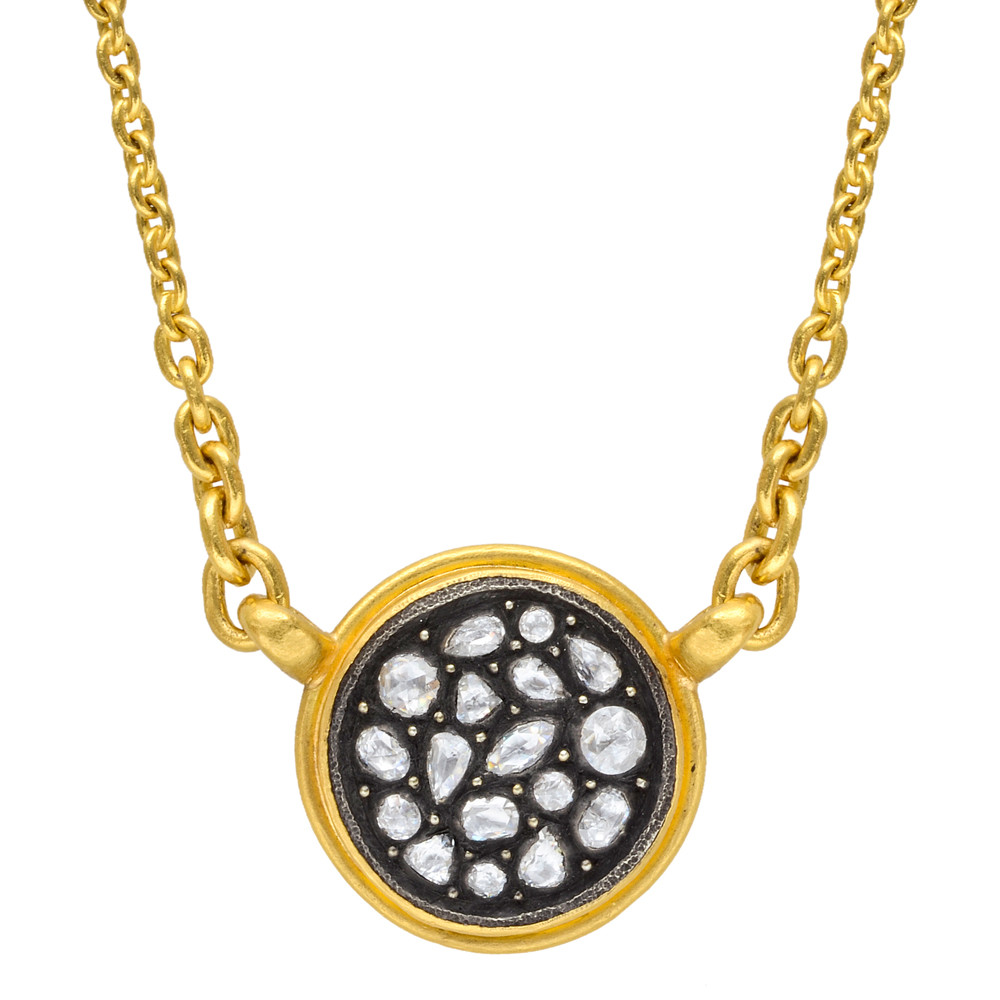 """Sara"" Rose-Cut Diamond Mosaic Pendant"