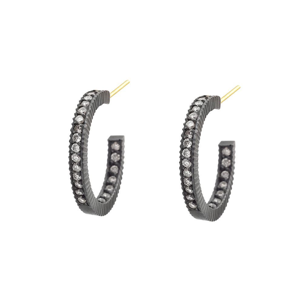 "Small Diamond ""Lilah"" Hoop Earrings"