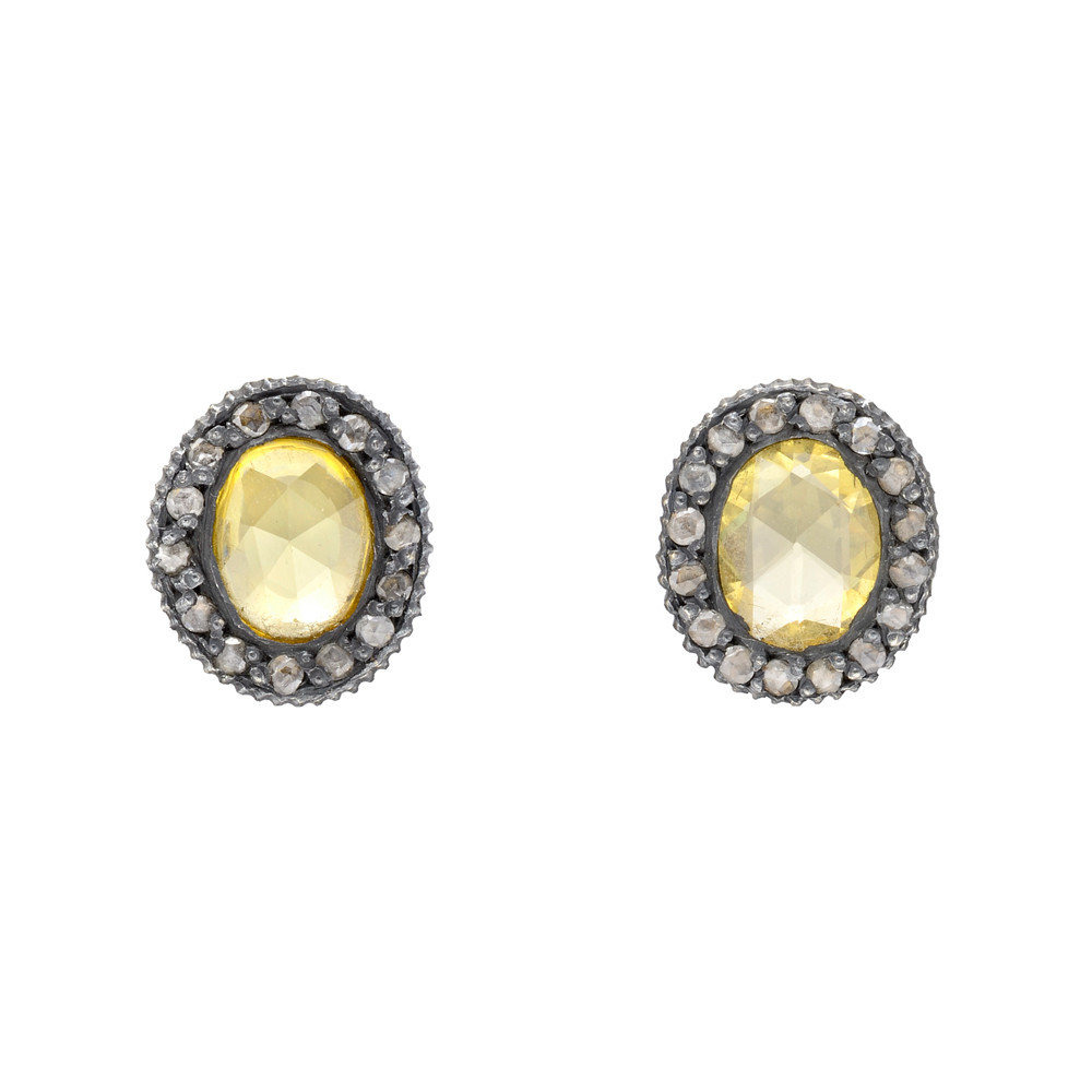 oval free hills earrings sapphire and tdw diamond overstock jewelry charm today yellow shipping watches halo citrine product beverly gold i stud h