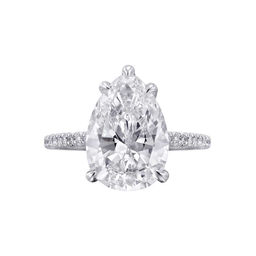 276 Carat Pearshaped Diamond Engagement Ring Betteridge Product Image  1000