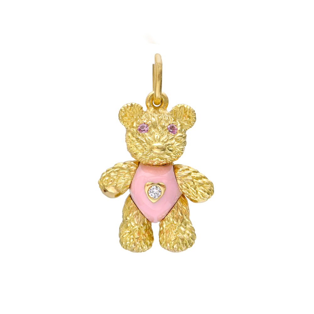 Bielka 18k Gold Amp Enamel Teddy Bear Charm Betteridge