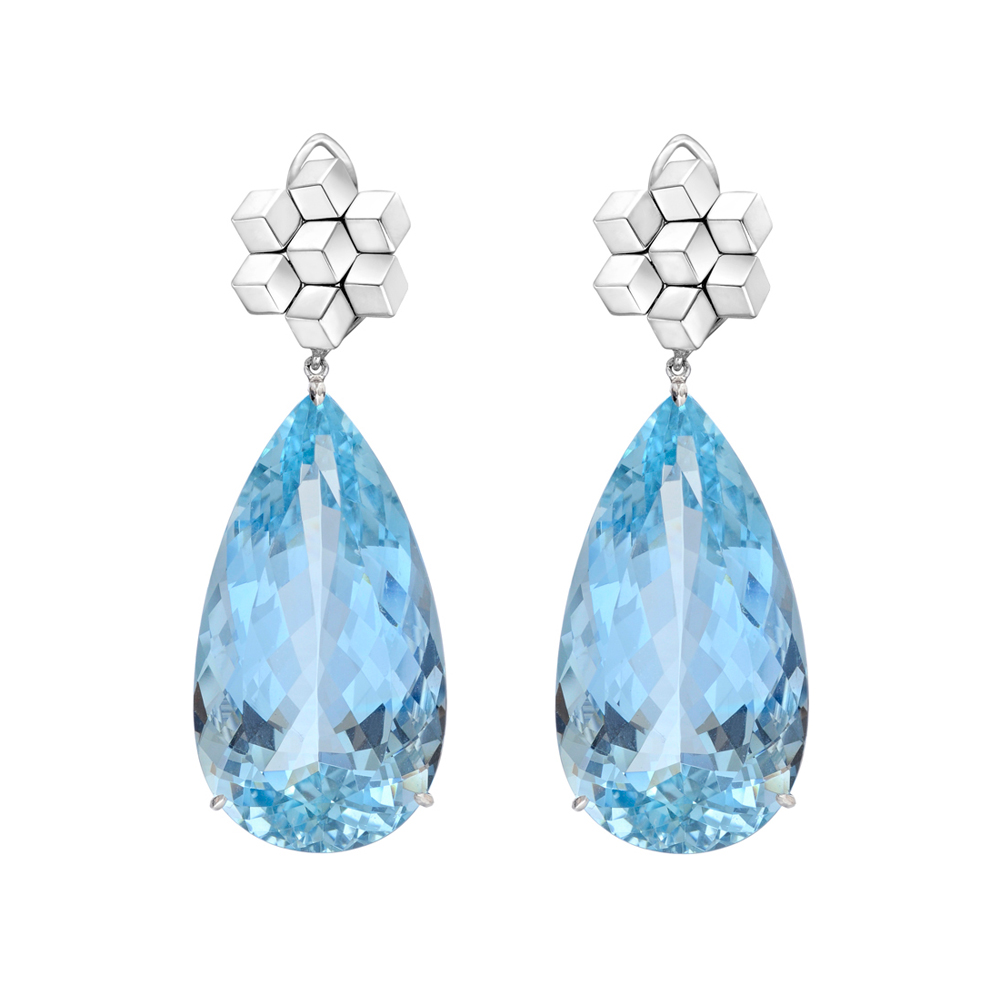 aquamarine drop earrings with 18k white gold quot brillante