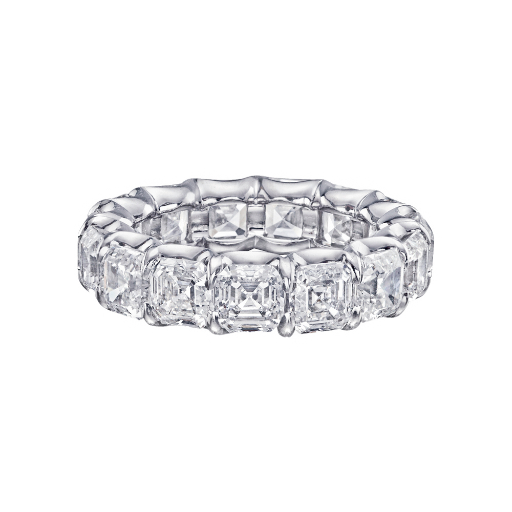 Asscher-Cut Diamond Eternity Band | Betteridge