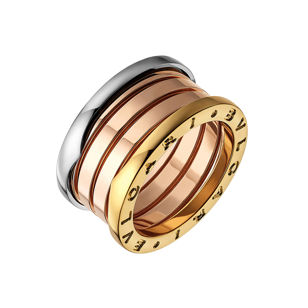 Bulgari 18k Tri Color Gold Quot B Zero1 Quot 4 Band Ring Betteridge