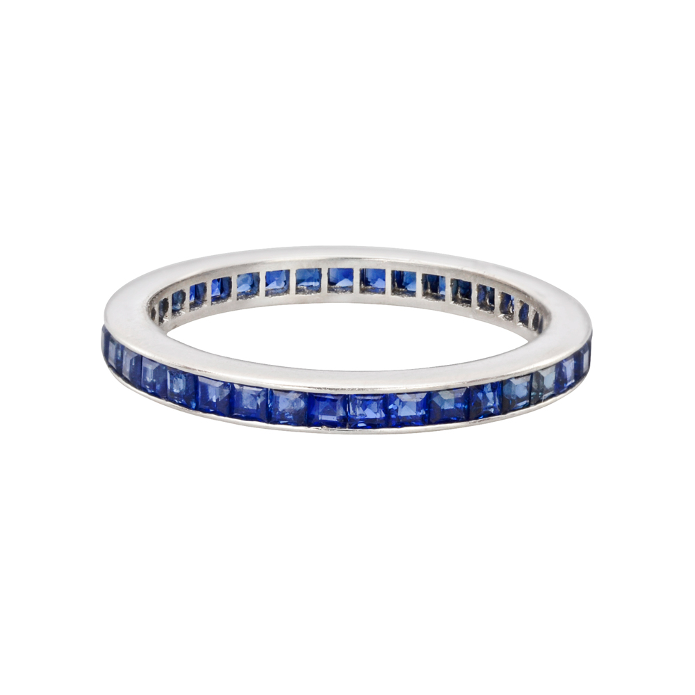 Channel Set Sapphire Eternity Band Betteridge