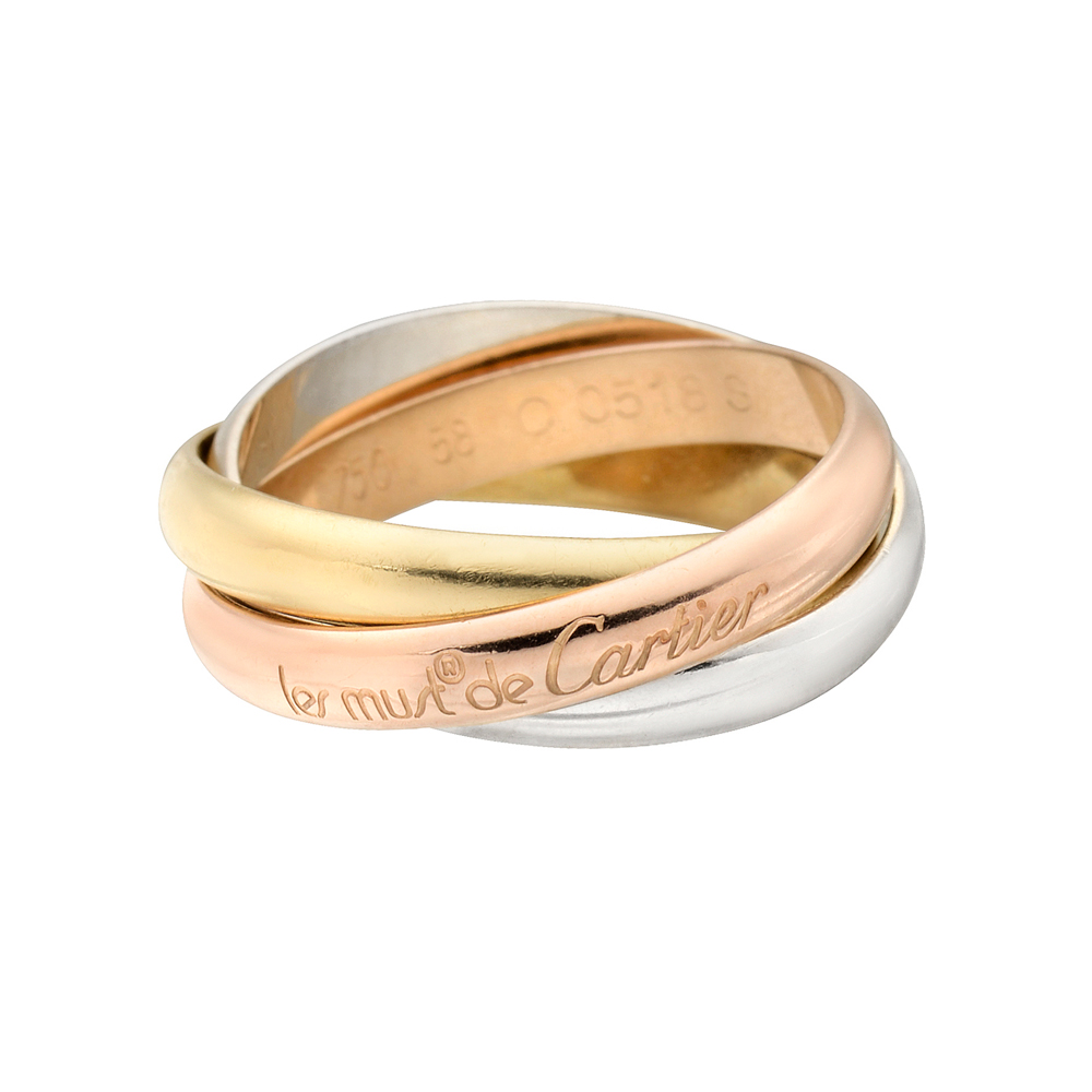 Cartier Trinity Wedding Ring: Estate Cartier Small 'Les Must De Cartier' Trinity Ring