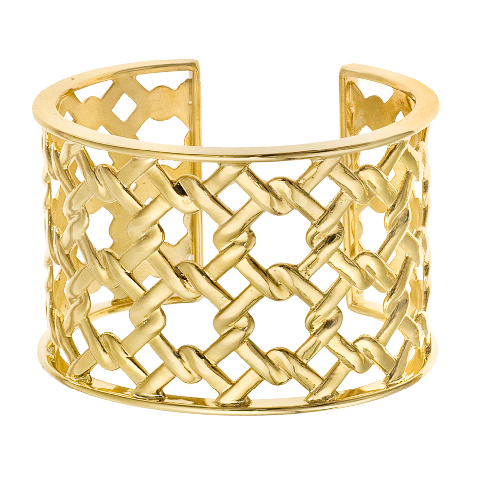 18k yellow gold basketweave cuff bracelet betteridge