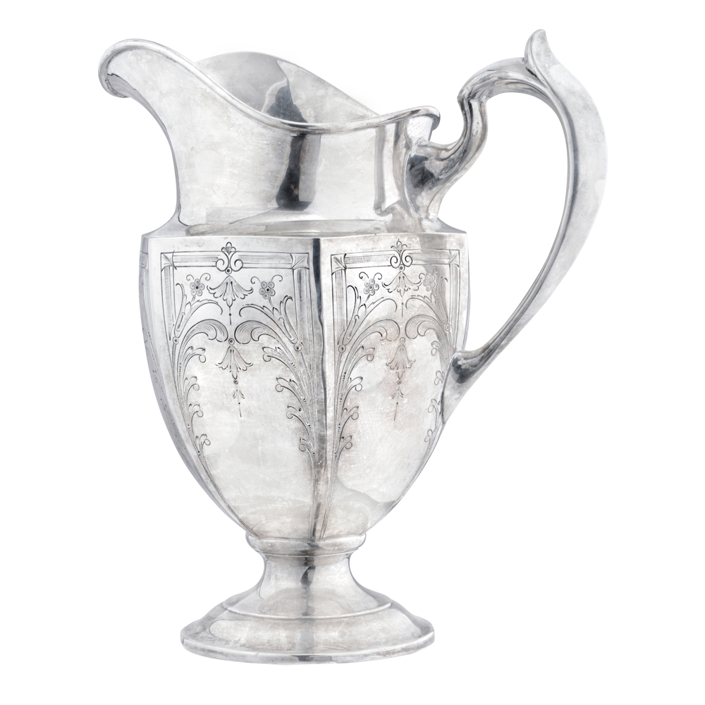 Estate Large Antique Silver Water Pitcher Betteridge