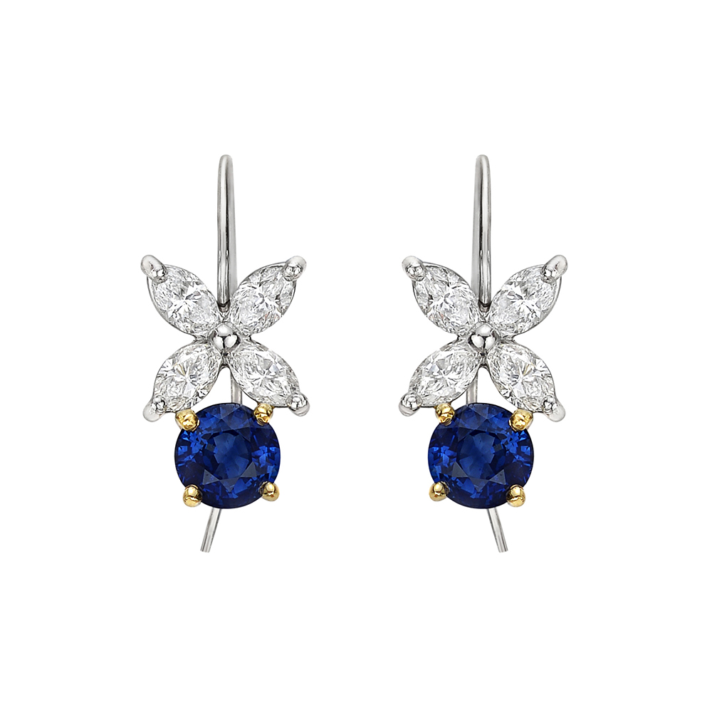 Tiffany Sapphire Amp Diamond Victoria Drop Earrings