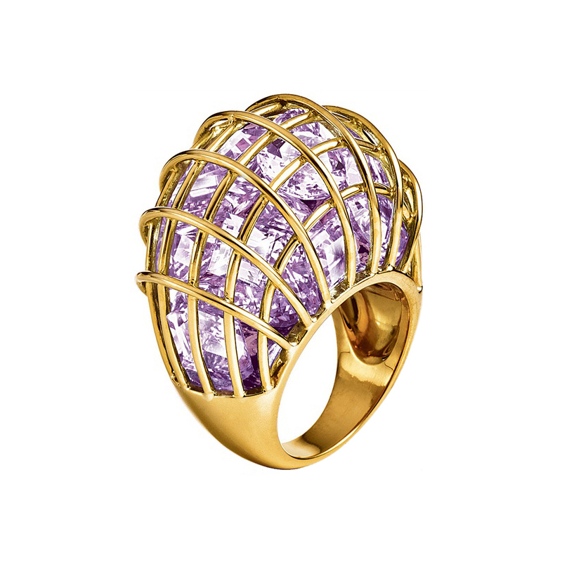 """Verdura """"caged"""" Lavender Amethyst Ring  Betteridge. Knot Stud Earrings. Cs Go Silvers. Platinum Pave Wedding Band. Allergy Bracelet. Hammered Bracelet. Vera Wang Engagement Rings. Five Stone Anniversary Band. Icw Watches"""