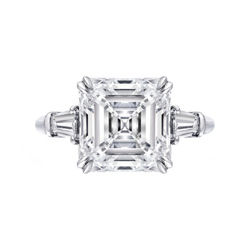 Estate Harry Winston 5 24 Carat Emerald Cut Diamond