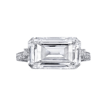 Betteridge 5 09 Carat Emerald Cut Diamond East West