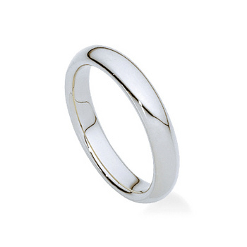 Betteridge Collection Platinum Comfort Fit Wedding Band 4mm