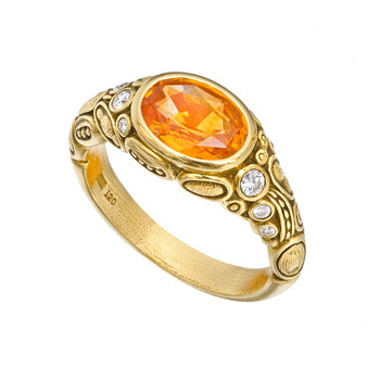 Alex Sepkus Yellow Sapphire Ring With Diamond Betteridge