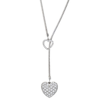 Estate Tiffany Amp Co Platinum Amp Pav 233 Diamond Heart Pendant