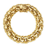 14k Yellow Gold Curb-Link Bracelet