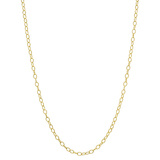 """14k Yellow Gold Twisted Round Link Chain Necklace (30"""")"""