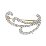 1890s Diamond Swirl Brooch