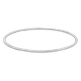 18k White Gold Polished Bangle