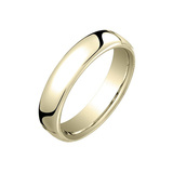 18k Yellow Gold European Comfort Fit Wedding Band (4.5mm)
