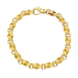 18k Yellow Gold 'Swirl' Link Bracelet