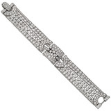 1940s Platinum & Diamond Bracelet (~21.44 ct tw)