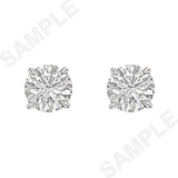 Round Brilliant Diamond Stud Earrings (3.02 ct tw)