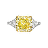 4.20 Carat Fancy Yellow Diamond Ring