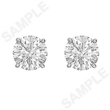 Round Brilliant Diamond Stud Earrings (4.41 ct tw)