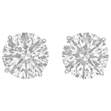 Round Brilliant Diamond Stud Earrings (40.54 ct tw)