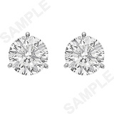 Round Brilliant Diamond Stud Earrings (6.04 ct tw)