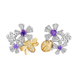 "Purple Sapphire & Diamond ""Pow Orchid"" Earrings"