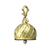 Extra Large 18k Gold Vaulted Meditation Bell