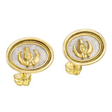 18k Gold Virgo Zodiac Cufflinks