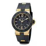 Diagono Automatic Black Rubber & Yellow Gold (DG35BGVD)