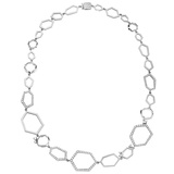 "18k White Gold & Diamond ""Jackson"" Necklace"