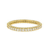 "18k Yellow Gold & Diamond ""Pinpoint"" Eternity Band"