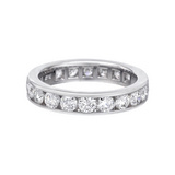 Channel-Set Diamond Eternity Band (~2 ct tw)