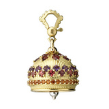 Large 18k Gold & Gemstone Meditation Bell