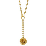 """Fandango"" 18k Gold & Diamond Ball Pendant"