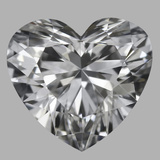 0.76 Carat Heart Diamond (D/IF)
