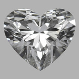 0.90 Carat Heart Diamond (D/VVS2)