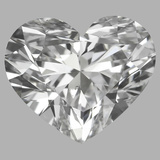 0.90 Carat Heart Diamond (F/VS2)