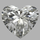 0.81 Carat Heart Diamond (H/IF)