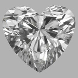 0.90 Carat Heart Diamond (G/VVS2)