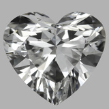 0.90 Carat Heart Diamond (F/VVS2)