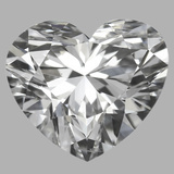 0.90 Carat Heart Diamond (D/SI1)